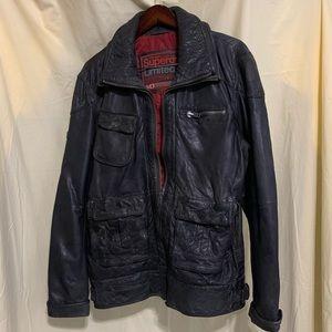 Superdry Limited men's leather jacket